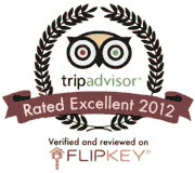 Flipkey Rated Exellent 2012